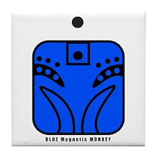 BLUE Magnetic MONKEY Tile Coaster