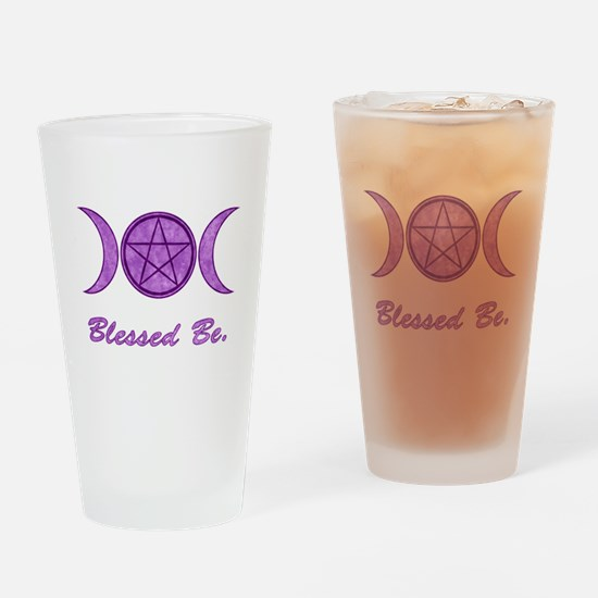 Blessed Be (Purple) Drinking Glass