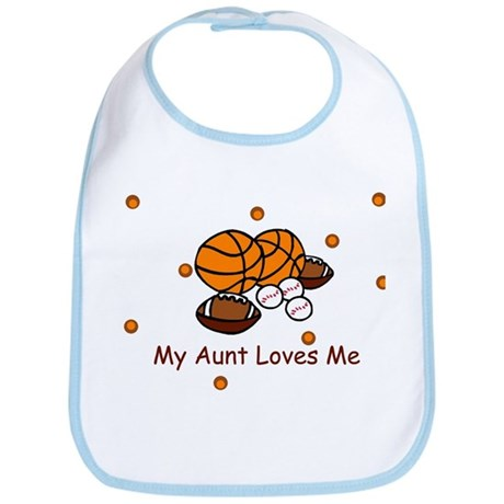 My Aunt Loves Me Sports Baby Bib