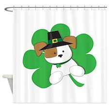 Irish Puppy Shower Curtain