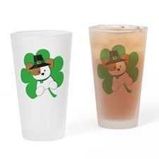 Irish Puppy Drinking Glass