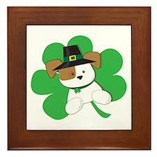 Irish Puppy Framed Tile
