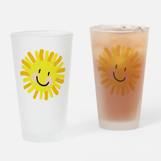 Sun Child Drawing Drinking Glass