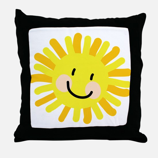 Sun Child Drawing Throw Pillow