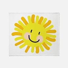 Sun Child Drawing Throw Blanket