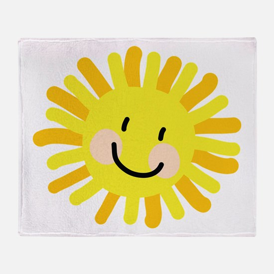 Sun Child Drawing Throw Blanket