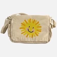 Sun Child Drawing Messenger Bag