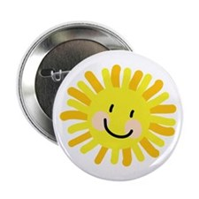 "Sun Child Drawing 2.25"" Button"