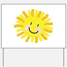 Sun Child Drawing Yard Sign