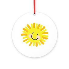 Sun Child Drawing Ornament (Round)