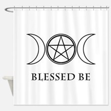 Blessed Be (Black & White) Shower Curtain
