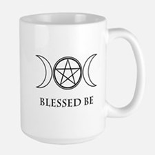 Blessed Be (Black & White) Large Mug