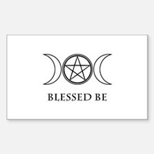 Blessed Be (Black & White) Sticker (Rectangle)