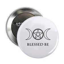 "Blessed Be (Black & White) 2.25"" Button"