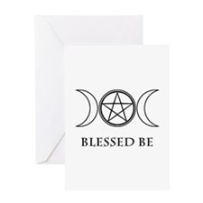 Blessed Be (Black & White) Greeting Card