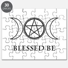Blessed Be (Black & White) Puzzle