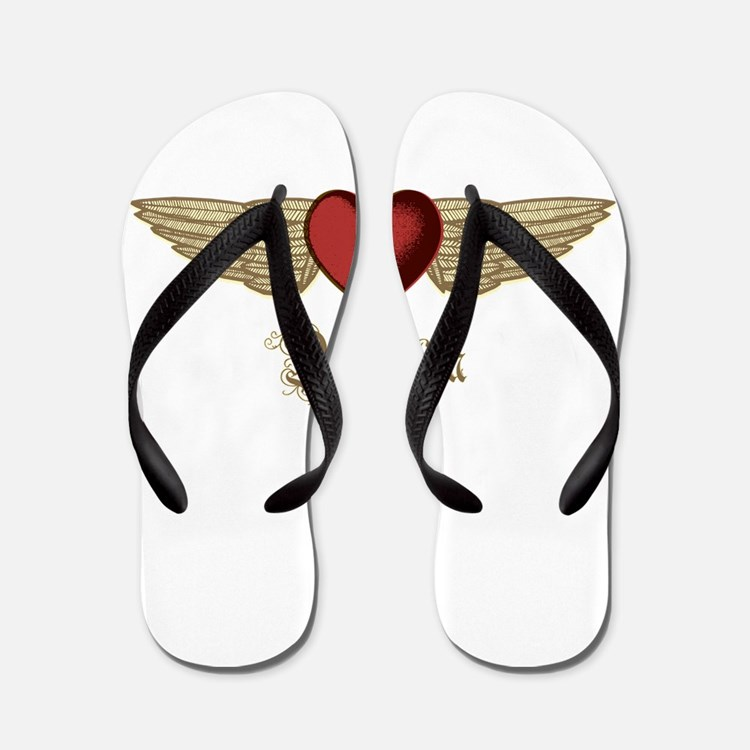 Alejandra the Angel Flip Flops