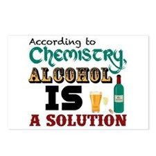 Alcohol is a Solution Postcards (Package of 8)