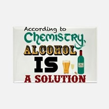 Alcohol is a Solution Rectangle Magnet (10 pack)