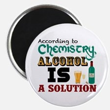 "Alcohol is a Solution 2.25"" Magnet (10 pack)"