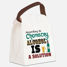 Alcohol is a Solution Canvas Lunch Bag