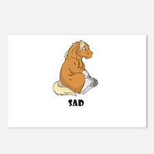 Sad little horse Postcards (Package of 8)