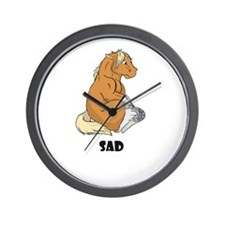 Sad little horse Wall Clock