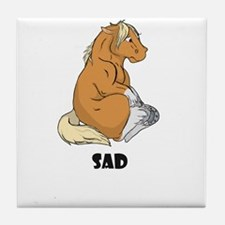 Sad little horse Tile Coaster