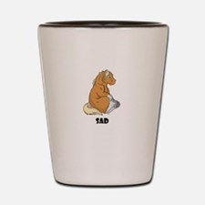 Sad little horse Shot Glass