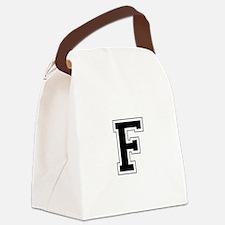 Collegiate Monogram F Canvas Lunch Bag