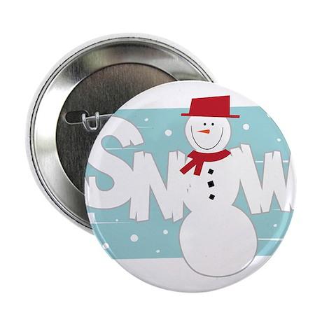 """Snow 2.25"""" Button"""