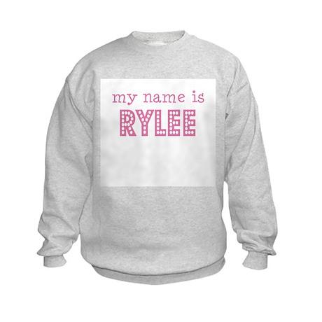 My name is Rylee Kids Sweatshirt
