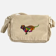 Running Doxie Colored Messenger Bag