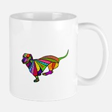 Running Doxie Colored Mug