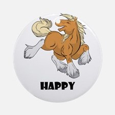 Happy Horse Ornament (Round)