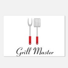 Grill Master Spatula and Fork Postcards (Package o