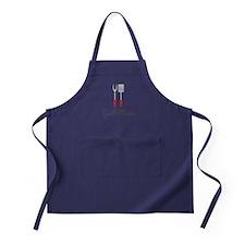 Grill Master Spatula and Fork Apron (dark)