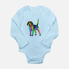 Beagle Colored Long Sleeve Infant Bodysuit