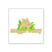 "Snuggle Bunny Square Sticker 3"" x 3"""