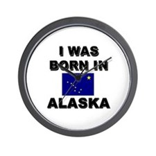 I Was Born In Alaska Wall Clock