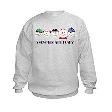 Snowmen Are Flaky Sweatshirt
