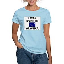 I Was Born In Alaska Women's Pink T-Shirt