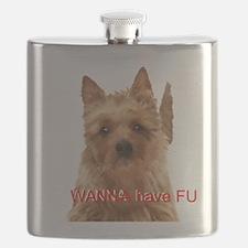 aussie terrier Flask