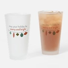 Merry and Bright Drinking Glass