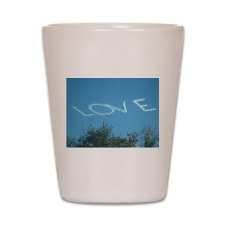 Smoking love in the sky Shot Glass