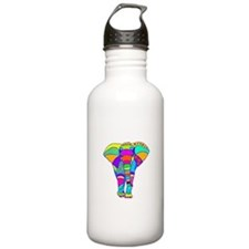 Elephant Colored Designed Water Bottle