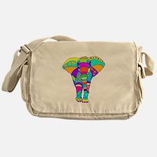 Elephant Colored Designed Messenger Bag