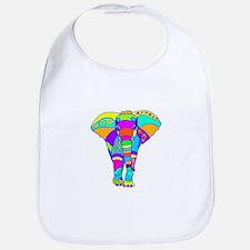 Elephant Colored Designed Bib
