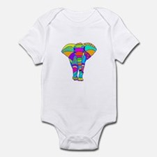 Elephant Colored Designed Infant Bodysuit