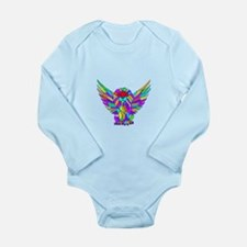 Flyin Lion Colored Long Sleeve Infant Bodysuit